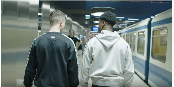 Dent filmed on behalf of Ogilvy One in Munich urban city impressions to feature a new vintage series of adidas trainers